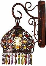 Bradoner Salon Mur Chambre Lampe De Chevet Cristal