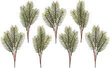 Branches de sapin artificiel, 20 cm, 7 pièces