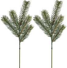 Branches de sapin artificiel, vert, 38 cm, 2
