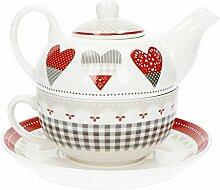 Brandani 53063 Théière en porcelaine avec tasse