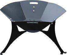 Brasero acier noir - Diamètre 85 cm