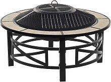 Brasero barbecue en acier noir et céramique HIERRO