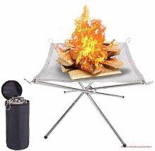 Brasero de camping portable avec cadre de