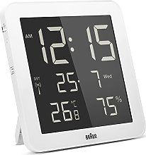 Braun - Horloge Murale numérique Radio-pilotée