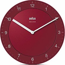 Braun Horloge Murale Radio-pilotée en Plastique,