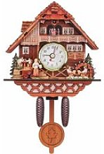 BRAVOTW Coucou Horloge Murale Bois Analogique Auto