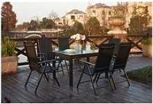 Brescia 6 : ensemble de jardin en aluminium table