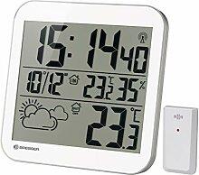 Bresser Horloge Murale MyTime LCD avec capteur