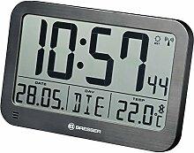 Bresser MyTime MC Horloge Murale numérique LCD