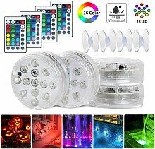 Briday - Lot de 4 lampes LED submersibles pour