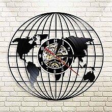 Brillant Carte de la Terre décoration Horloge