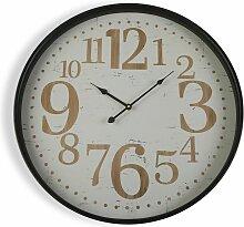 Brisbane Horloge murale, 60x6x60cm - Blanc - Versa