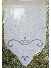 Brise-bise 59x80 transparent blanc macramé