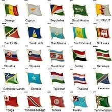 Broche de Badge de drapeau, broches de revers