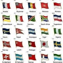 Broche de drapeau de pays, Badge de drapeau