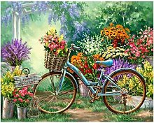 Broderie de fleurs et de vélos 5D à faire