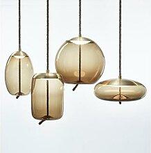 BROKIS – lampe led suspendue en verre, design