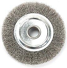 Brosse de roue de banc de 10,2 cm, fil épais