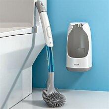 Brosse de toilette en Silicone, pas de coins