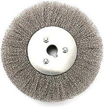 Brosse pour roue de banc de 15,2 cm, fil épais