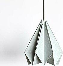 Brownfolds Abat-jour origami en papier bleu clair