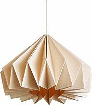 Brownfolds Abat-jour origami en papier - Vanille