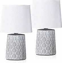 BRUBAKER - Lampe de table/de chevet - Lot de 2 -