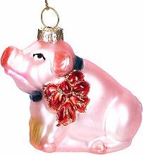BRUBAKER - Suspension pour Sapin de Noël - Cochon