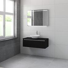 Bruynzeel Giro Meuble avec miroir 100cm Noir soie
