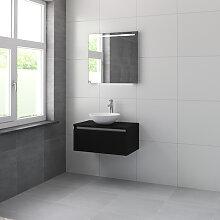 Bruynzeel Giro Meuble avec miroir 75cm Noir soie