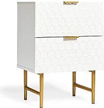 BTFY Table de chevet design nid d'abeille avec