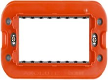 BTicino H4704 Axolute Support 4 modules, rouge