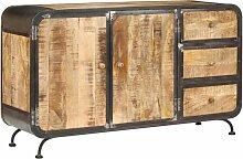 buffet 140 x 40 x 80 cm bois de manguier massif -
