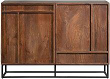 Buffet 2 portes en bois foncé