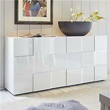 Buffet 3 portes design blanc laqué brillant ARTIC