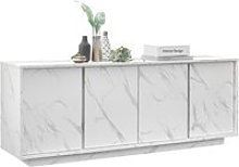 Buffet 4 portes - marbre blanc - l 180 x p 43 x h