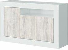 Buffet à trois portes, couleur blanche, 144 x 87