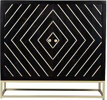 Buffet art déco PRISMIN - 2 portes - Bois de