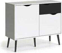 Buffet avec deux portes et un tiroir, noir et