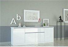 Buffet bahut blanc laqué design ORIANE