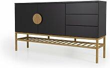 Buffet bas design en bois Noir