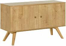 Buffet bas largeur 120cm NATURE couleur bois -