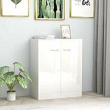 Buffet blanc brillant 60 x 30 x 75 cm