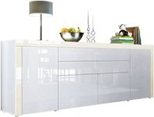 Buffet  Blanc / crème haute brillance  200 cm