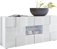 Buffet CALISTO - LEDs - 2 portes & 2 tiroirs -