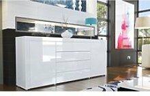 Buffet design laqué blanc