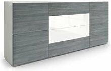 Buffet dressoir Rova en Blanc mat -