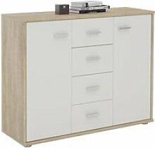 Buffet elodie, commode meuble de rangement avec 4
