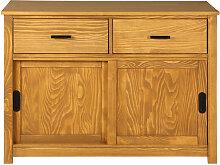 Buffet en pin massif 2 tiroirs et 2 portes