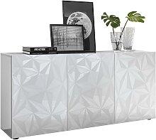 Buffet ERIS - 3 portes - Blanc laqué